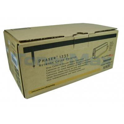 XEROX PHASER 1235 TONER CART YELLOW 10K